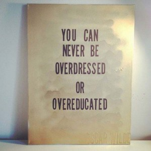 Overdressed and Overeducated