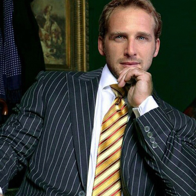 Stripes In Suit And Tie Pinstripe