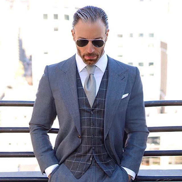 Christopher Korey Gray Suit