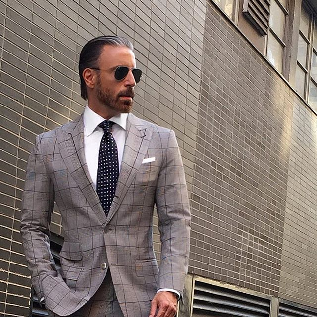 Christopher Korey windowpane suit