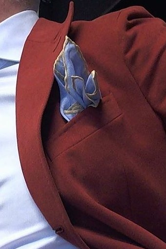 colorful pocket square