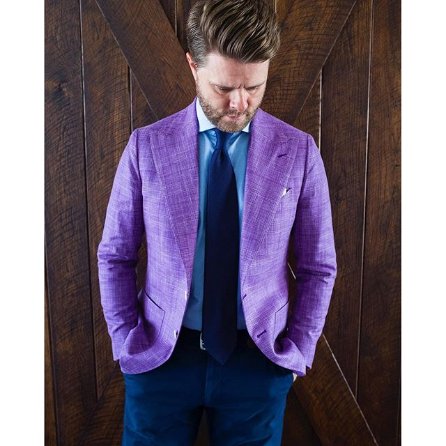 Jason Yeats purple jacket