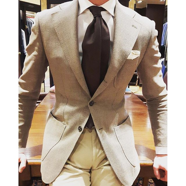 Light colored suit