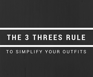 rule to simplify your outfits