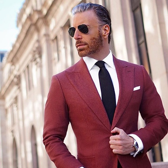 suits and sunglasses Christopher Korey