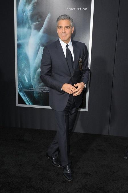 George Clooney in black suit