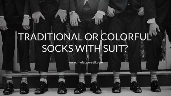 Which type of socks with suit?