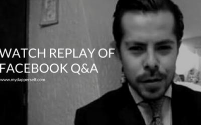 Quick, Unannounced Facebook Live Q&A