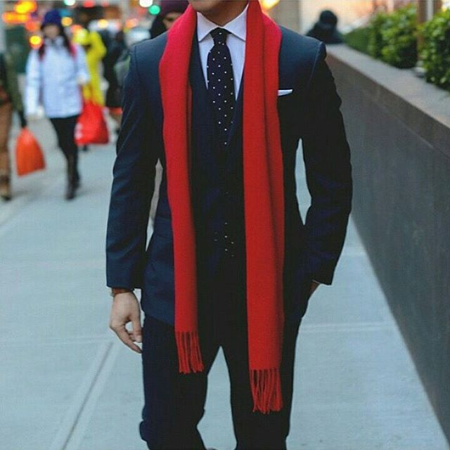Holidays red scarf - 9 Dapper Outfit Ideas For The Holidays - My Dapper Self