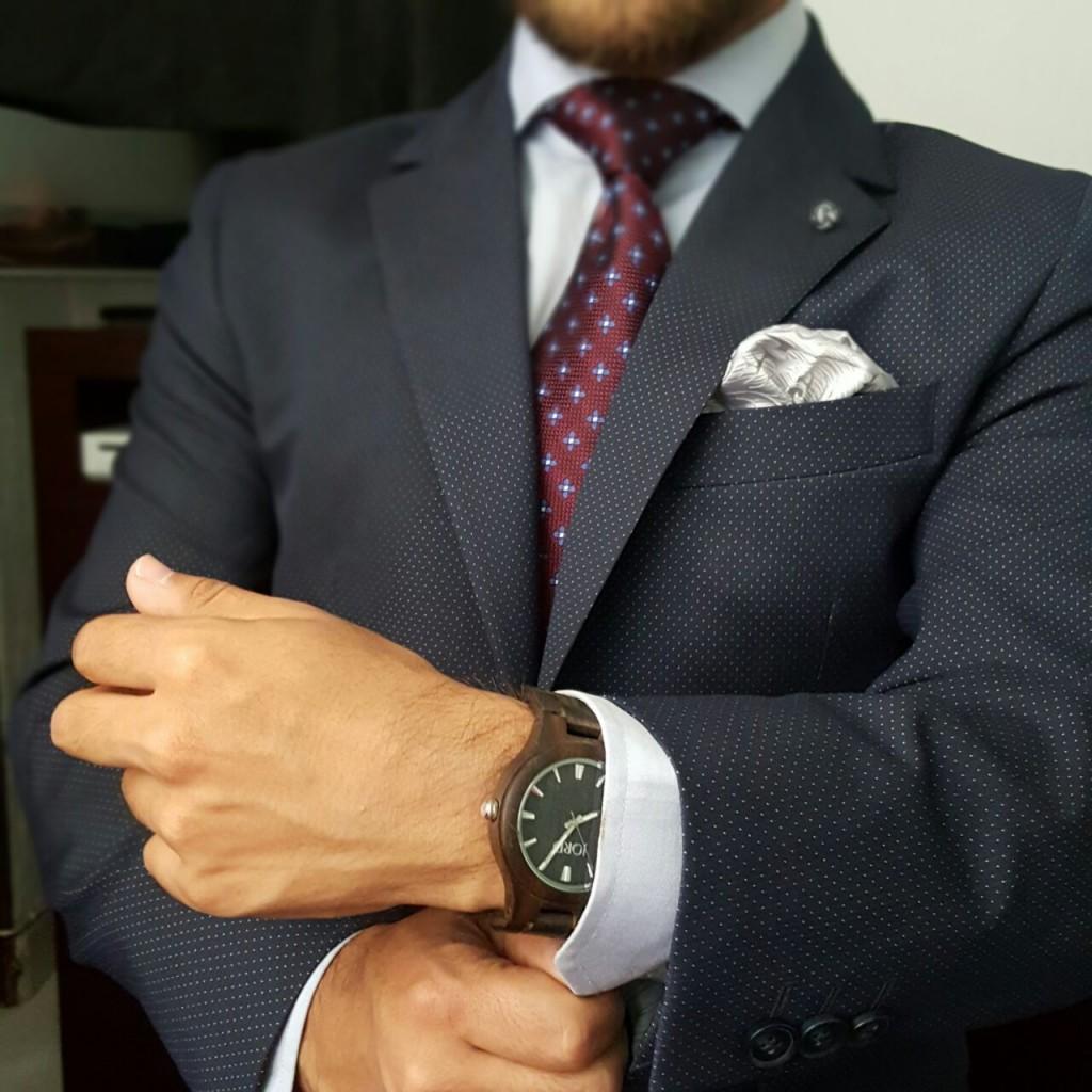 Ed wearing JORD watch