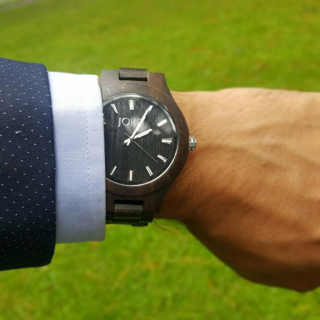 JORD wooden watch on wrist