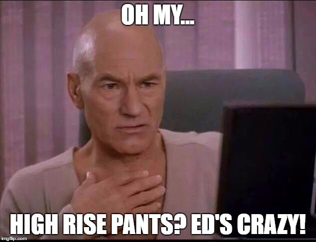 high rise pants reaction