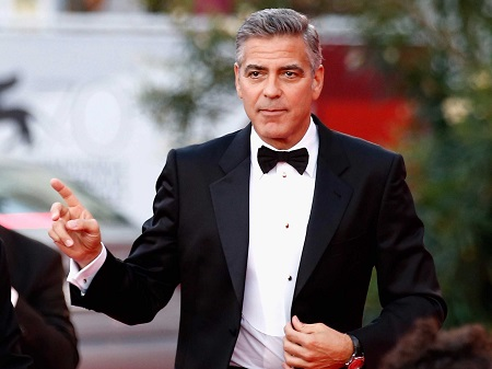 George Clooney in a black tux