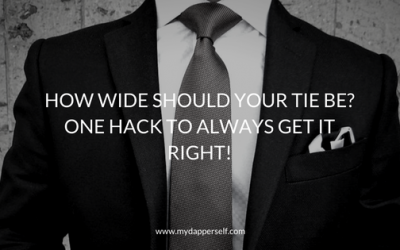 How Wide Should Your Tie Be? One Hack To Always Get It Right!